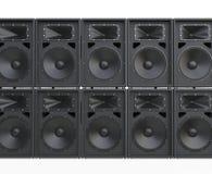 Wall of big concert loudspeakers Stock Image