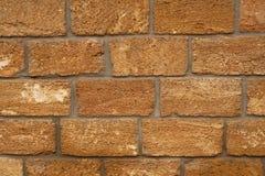 Wall with big limestone blocks Stock Photos