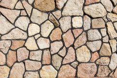 Big stones. A wall of big stones Stock Photography