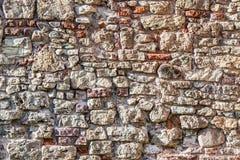 Wall of big stones and broken bricks royalty free stock images
