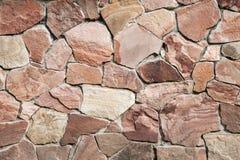 Wall of big stones and broken bricks royalty free stock photography