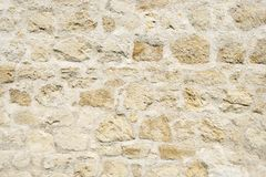 Wall with big stones. As a background Royalty Free Stock Images