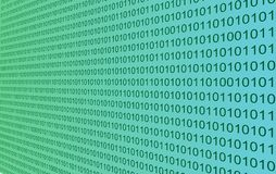 Wall of binary code Royalty Free Stock Images