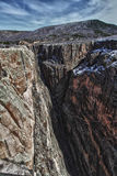 Wall of the Black Canyon of the Gunnison Park, CO Royalty Free Stock Photos
