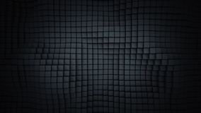 Wall of black cubes abstract 3D rendering. Wall of black cubes. Abstract geometric background. 3D rendering Stock Photo