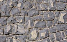 Wall of black volcanic rocks closeup Stock Image