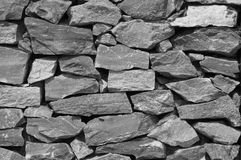 Wall  in black and white. Wall made from rock in black and white Royalty Free Stock Images