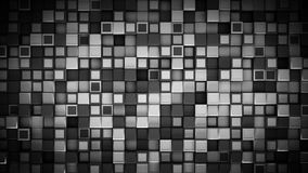 Wall of black and white 3D cubes abstract background. Wall of black and white cubes. Abstract background. 3D rendering Royalty Free Stock Photography