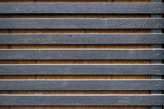 Wall black wooden slats Royalty Free Stock Photo