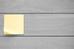 Wall with blank sticky note Royalty Free Stock Image