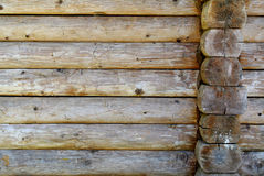 Wall of a blockhouse Stock Photography