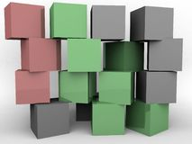 A wall of blocks. A wall of differently colored blocks vector illustration