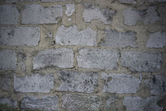 Wall from blocks of grey colour Stock Photos
