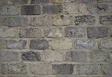 Wall from blocks of grey colour Royalty Free Stock Image