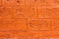 Wall blocks orange. Royalty Free Stock Images