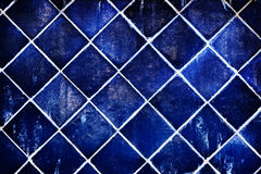 Wall of blue ceramic Royalty Free Stock Photos