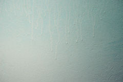 Wall in blue paint Stock Photo