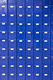 Wall of blue Post Office boxes Stock Photography