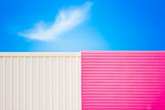 Wall and blue sky. Stock Photo