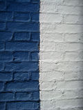 Wall blue and white. Picture of the wall stained blue and white Stock Photos