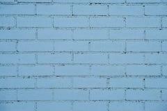 Wall of bluel bricks Royalty Free Stock Photos