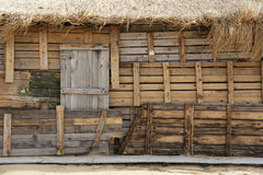 Wall from boards. Wall of the house on the beach, made of planks and boards Royalty Free Stock Photography