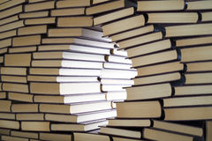 Wall of books Royalty Free Stock Images