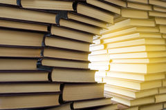 Wall of books Royalty Free Stock Image