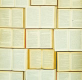 A wall of books stock photo