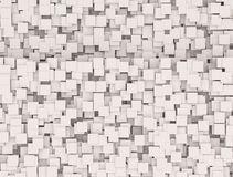 Wall of Boxes. White Wall of Boxes, abstract background stock image