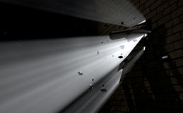 Wall Break Through And Light Royalty Free Stock Photography