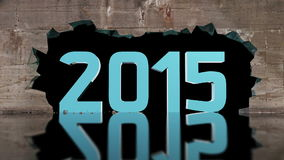 Wall breaking shows 2015 number stock video footage