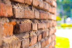 Wall Brick. Antique Wall Brick Background in old city Stock Photography