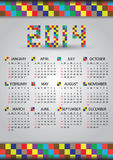 2014 wall brick calendar eps10. 2014 wall brick color calendar eps10 Royalty Free Illustration
