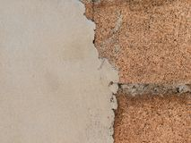 Wall brick cement texture and background stock images