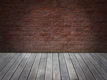 Wall brick floor wood vintage Stock Photo
