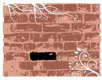 Wall brick, grunge background Stock Image