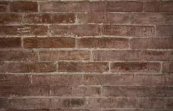 Wall of brick masonry aged. Painted street brushed grunge background texture color stock photos