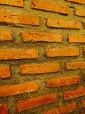Wall. Brick morta vintage home Stock Photos