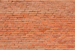 Wall from a brick. Old wall from a brick of red color Royalty Free Stock Images