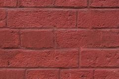 Wall of painted bricks background. texture. Royalty Free Stock Photo