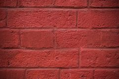 Wall of painted bricks background. texture, vignette. Stock Images