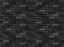 Wall brick seamless pattern Black Stock Image