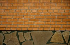 A wall of brick and stone Royalty Free Stock Images