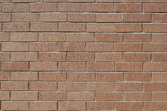Wall of Bricks. With earth colors Stock Images
