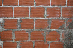 Wall of bricks. With cement Royalty Free Stock Photos