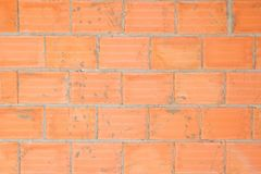 Wall of bricks. Unfinished wall of bricks inside a construction site Stock Images