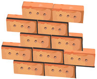 Wall from bricks Stock Photo