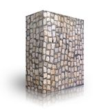 Wall bricks. On a white background Stock Photography