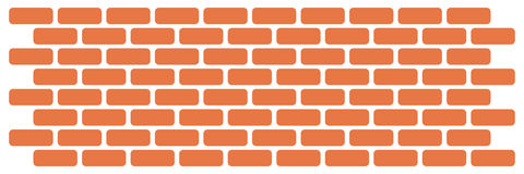 Wall of bricks Royalty Free Stock Photography